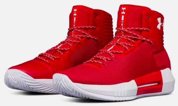 Under Armour UA Team Drive 4メンズ Red/Red アンダーアーマー チームドライブ Stephen Curry ステフィン・カリー バッシュ