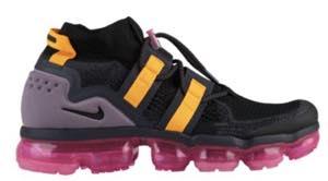ナイキ メンズ Nike Air Vapormax Flyknit Utility スニーカー Black/Black/Gridiron/Pink Blast ヴェイパーマックス フライニット