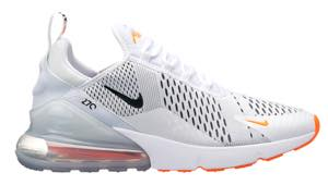 nike air max 270 men's white black total orange