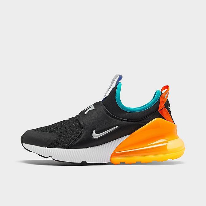 ナイキ キッズ/レディース エアマックス270 Nike Air Max 270 スニーカー Black/Metallic Silver/Laser Orange