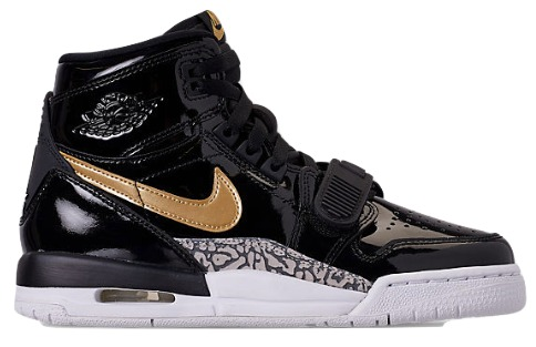 エアジョーダン GS キッズ Gold/White/レディース レガシー Jordan Air Jordan Legacy 312 GS スニーカー Black/Metallic Gold/White, きもののきらくや:6015cda6 --- ww.thecollagist.com