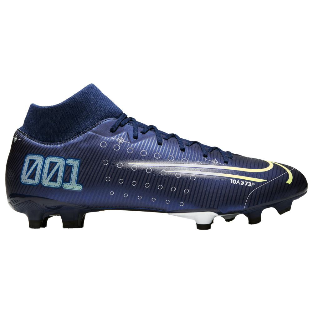 ナイキ メンズ サッカーシューズ Nike Mercurial Superfly 7 Academy MDS FG/MG スパイク Blue Void/Metallic Silver/White/Black