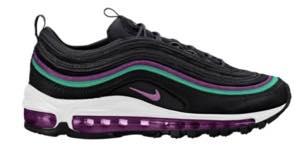 ナイキ レディース/ウーマン スニーカー Nike Air Max 97 エアマックス 97 Black/Bright Grape/Clear Emerald/Black