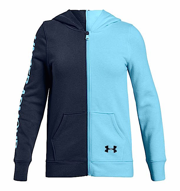 アンダーアーマー ガールズ/キッズ Under Armour Rival Fleece Full Zip Hoodie Long Sleeve T-Shirt 長袖 パーカー Academy