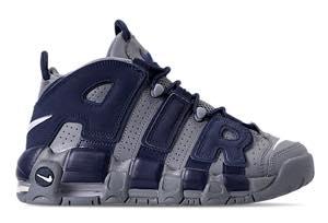 ナイキ ボーイズ/キッズ/レディース スニーカー Nike Air More Uptempo '96 モア アップテンポ モアテン バッシュ Cool Grey/White/Midnight Navy