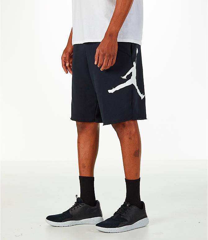ジョーダン メンズ Jordan Sportswear Air Jumpman Fleece Shorts ショーツ ハーフパンツ Black/White ナイキ NIKE