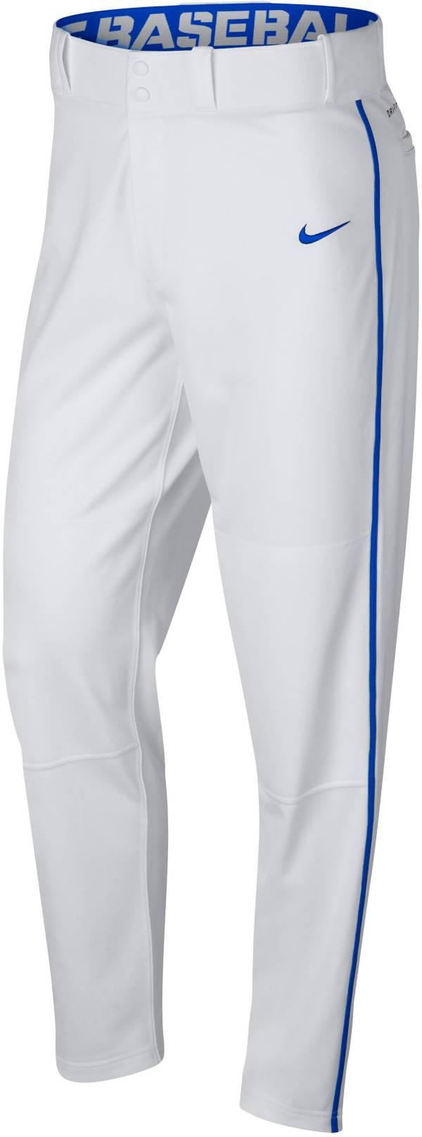 ナイキ メンズ ベースボールパンツ Nike Swoosh Piped Dri-FIT Baseball Pants 野球 WHITE/ROYAL