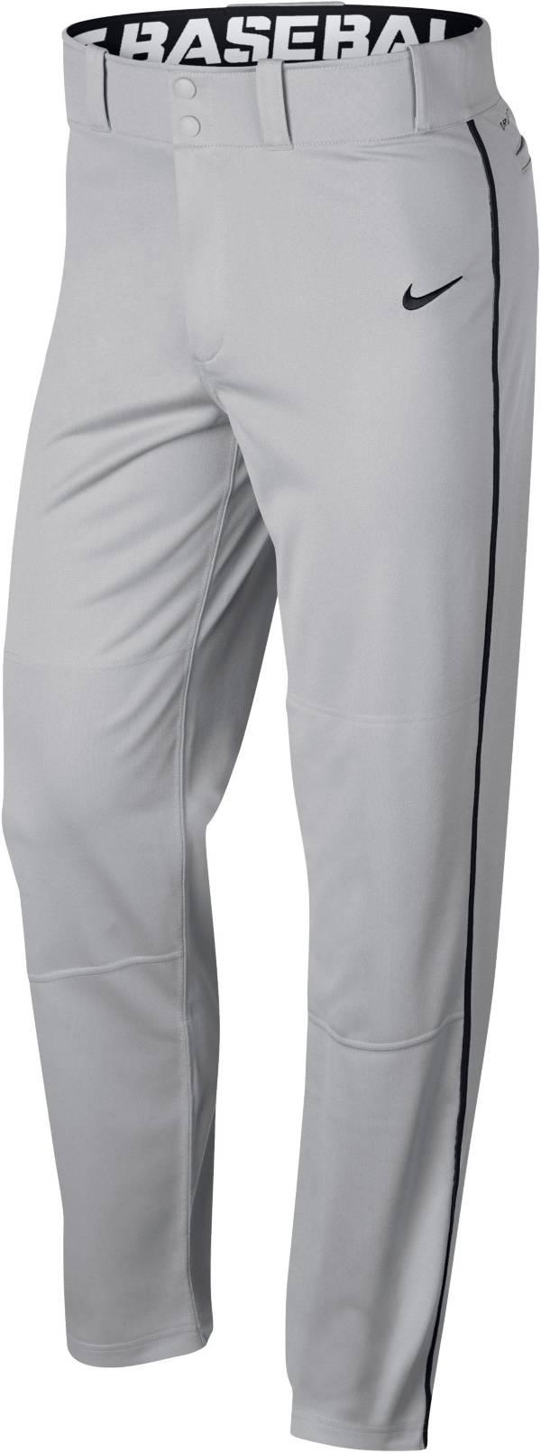ナイキ メンズ ベースボールパンツ Nike Swoosh Piped Dri-FIT Baseball Pants 野球 GREY/BLACK