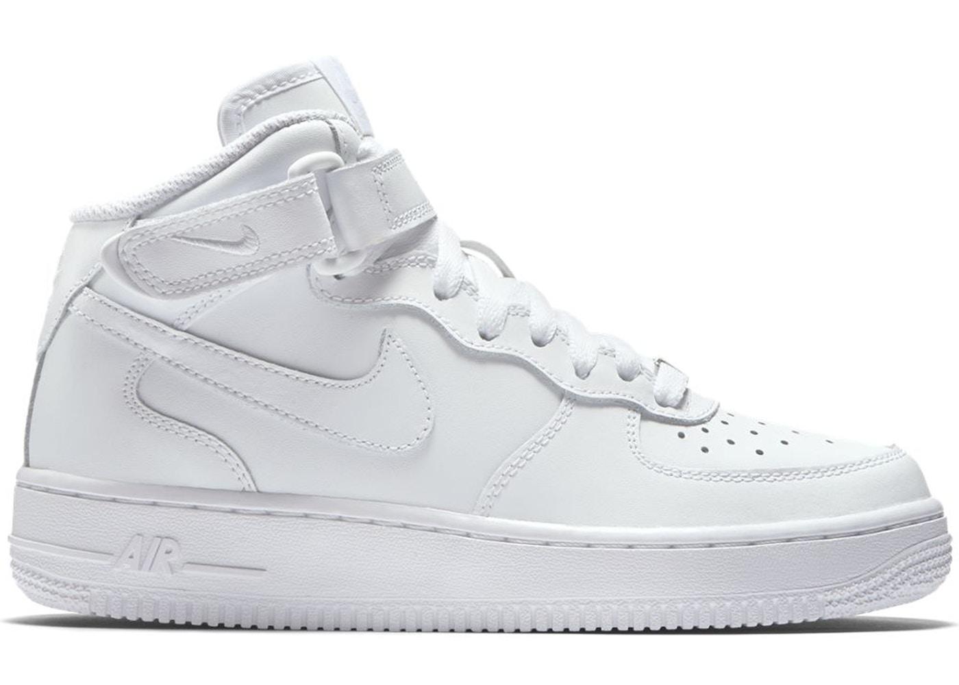 ナイキ キッズ/レディース エアフォース1 Nike Air Force 1 Mid スニーカー White/White