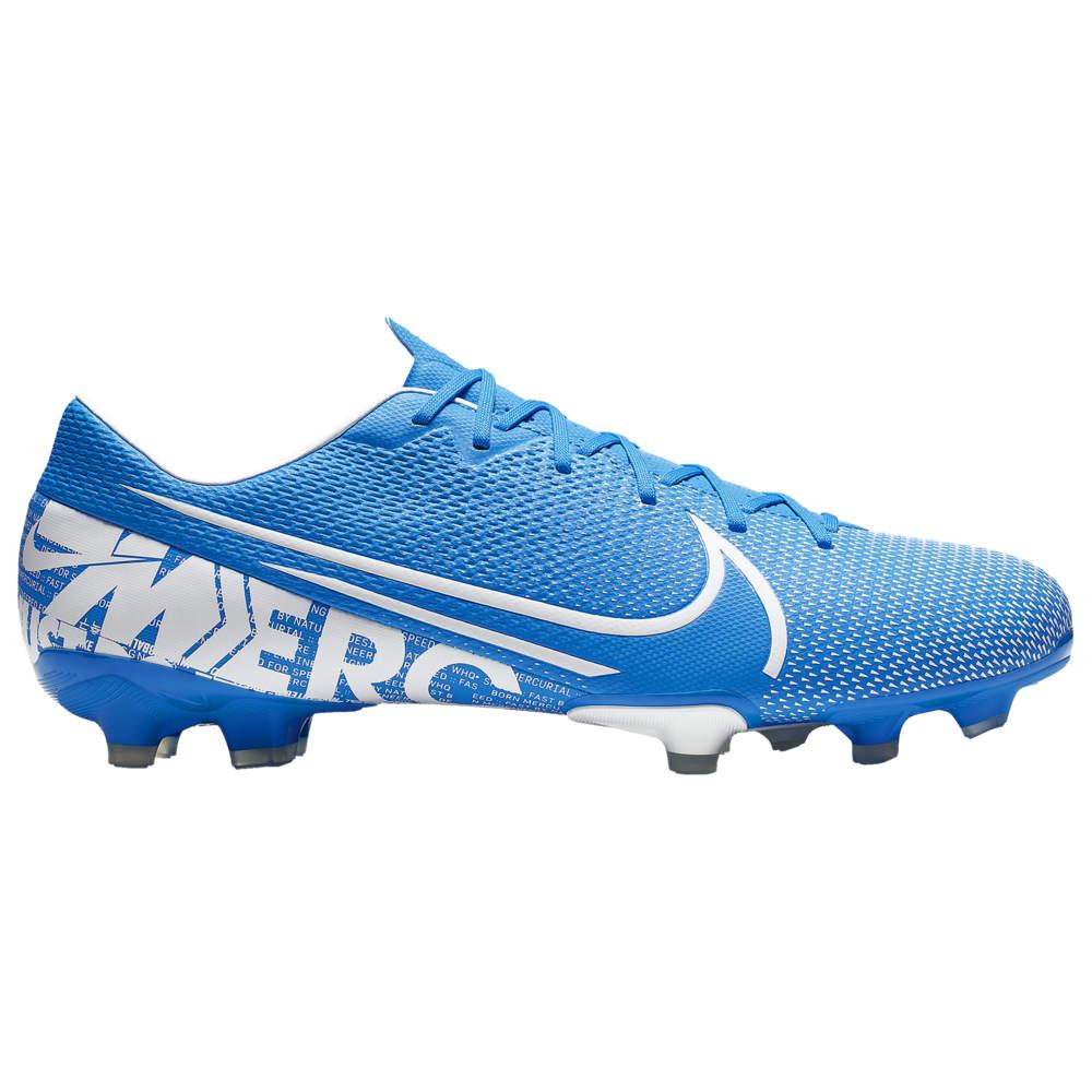 ナイキ メンズ サッカーシューズ Nike Mercurial Vapor 13 Academy FG/MG スパイク Blue Hero/White/Obsidian