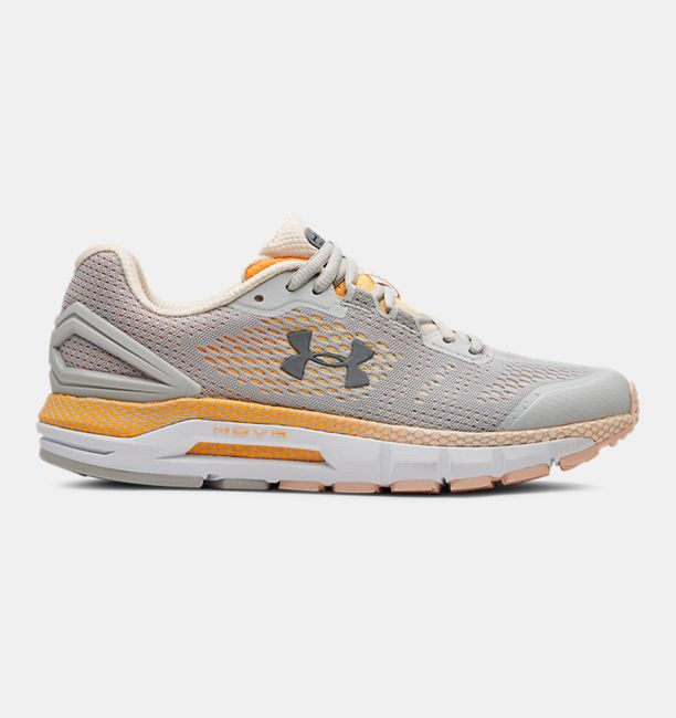 アンダーアーマー レディース Under Armour HOVR Guardian Running Shoes ランニングシューズ Gray Flux / Orange Dream