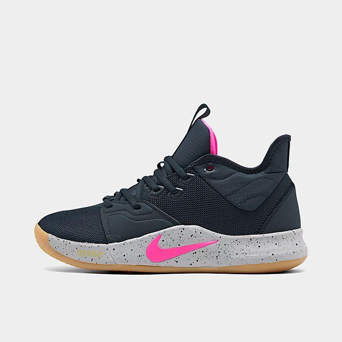 ナイキ メンズ Nike PG 3 バッシュ Obsidian/Pink Blast/Wolf Grey