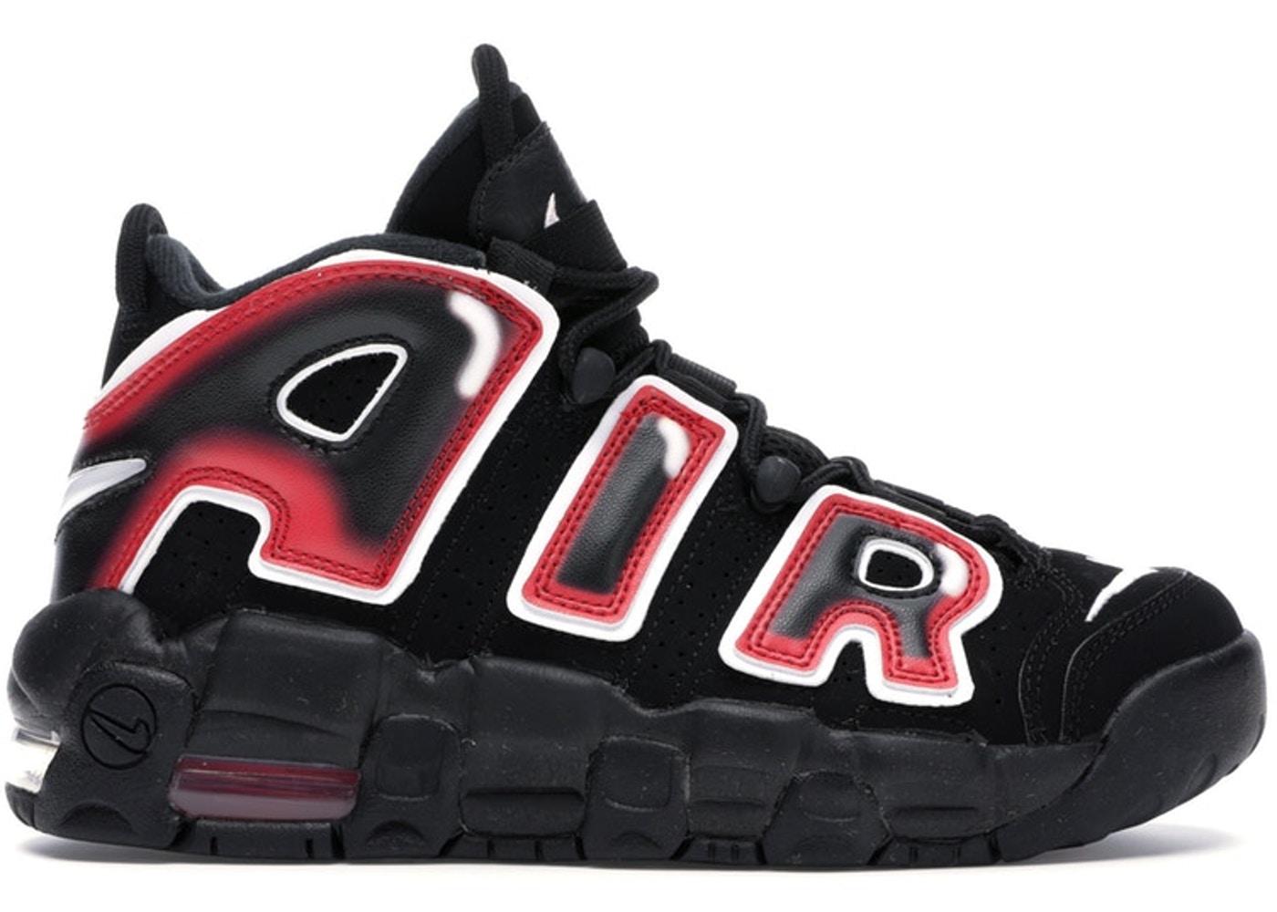 ナイキ キッズ/レディース アップテンポ Nike Air More Uptempo '96 スニーカー Black/White/Laser Crimson