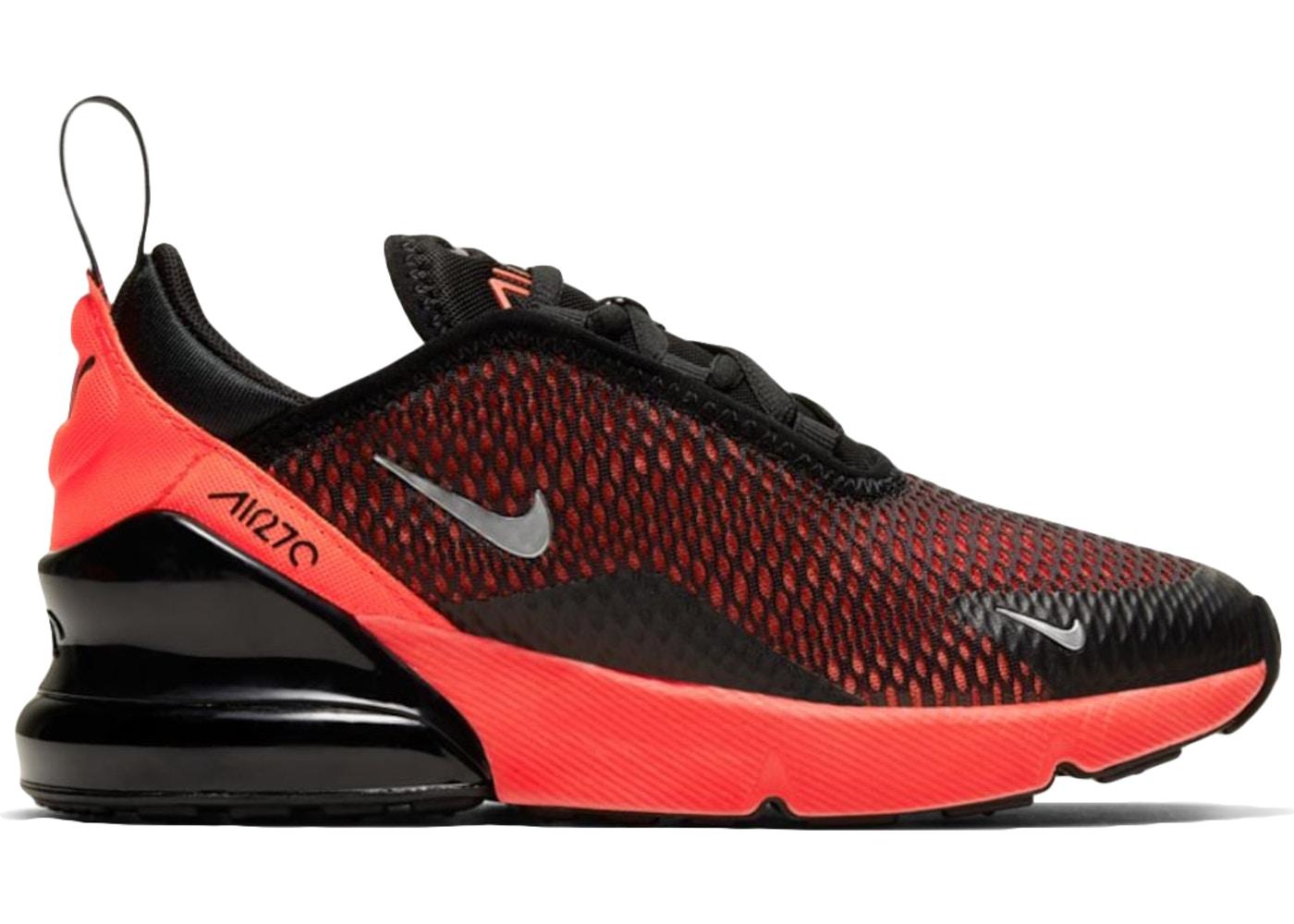 ナイキ キッズ/ジュニア エアマックス270 Nike Air Max 270 PS スニーカー Black/Reflect Silver/Bright Crimson
