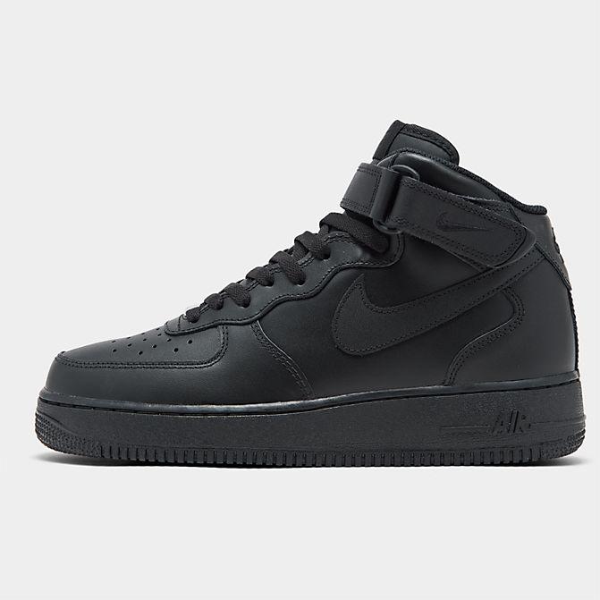 ナイキ キッズ/レディース エアフォース1 Nike Air Force 1 Mid スニーカー Black/Black