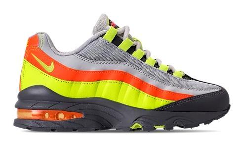 ナイキ キッズ スニーカー Nike Air Max 95 Casual Shoes GS シューズ Vast Grey/Volt/Gunsmoke/Total Orange