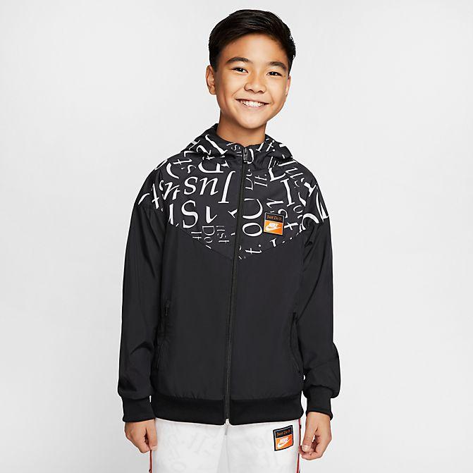 ジョーダン ボーイズ/キッズ ジャケット Nike JDI Windrunner Jacket GS 子供服 Black
