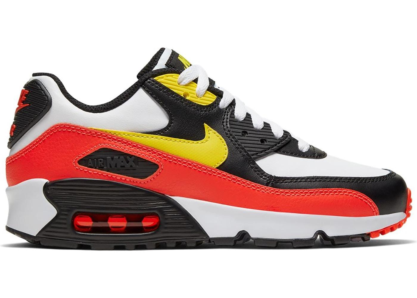 ナイキ キッズ/レディース エアマックス90 Nike Air Max 90 GS スニーカー White/Chrome Yellow/Black