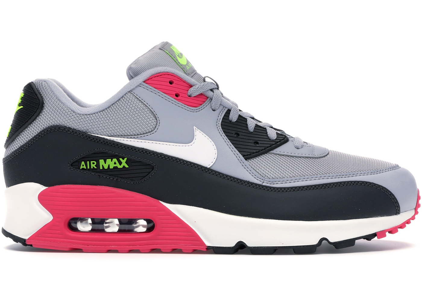 ナイキ メンズ Nike Air Max 90 スニーカー WOLF GREY/RUSH PINK-VOLT-WHITE エアマックス90