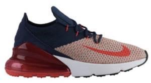 ナイキ エアマックス レディース/ウーマン Nike Air Max 270 Flyknit ランニングシューズ スニーカー Moon Particle/Red Orbit/College Navy/Blue/Whit