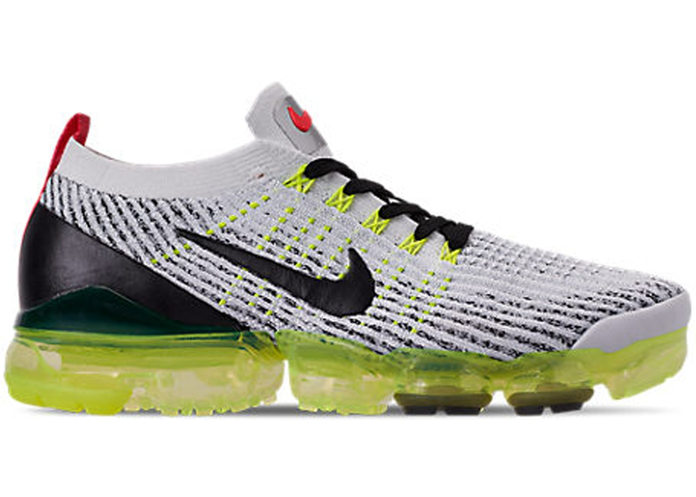 ナイキ メンズ NIKE AIR VAPORMAX FLYKNIT 3 ランニングシューズ White/Black/Volt/Bright Crimson/Metallic Silver