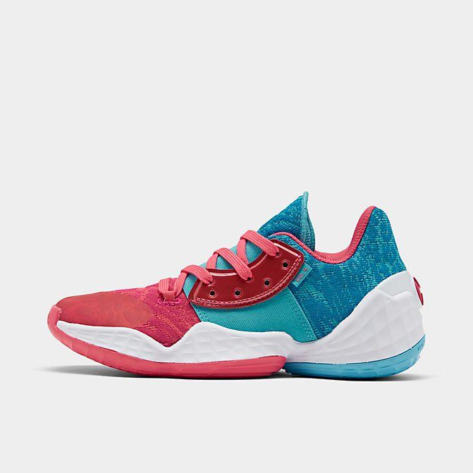 アディダス キッズ/レディース ハーデン4 adidas Harden Vol. 4 GS バッシュ Bright Cyan/Real Pink/Footwear White