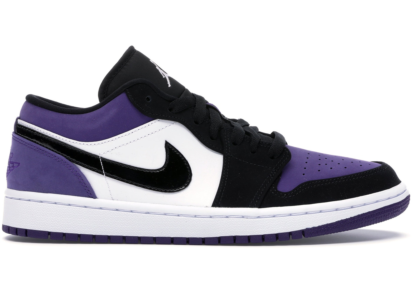 ジョーダン メンズ レトロ Air Jordan Mid Retro 1 Low スニーカー White/Black/Court Purple