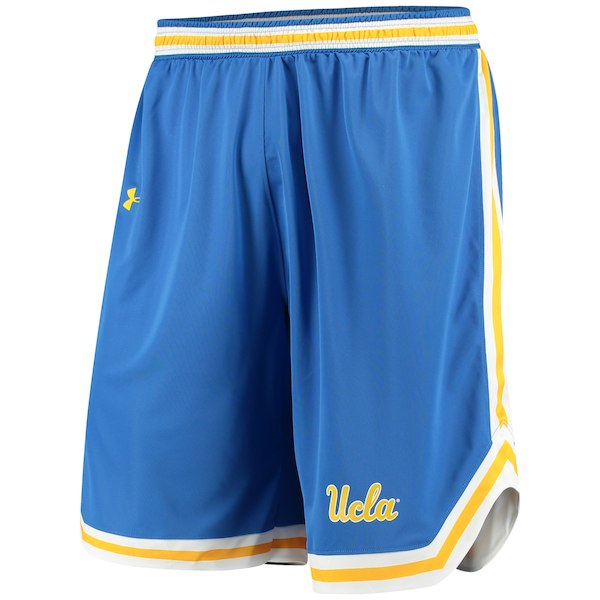 ナイキ カレッジ NCAA ショーツ UCLA Bruins Under Armour Performance Replica Basketball Shorts ポケットなし バスパン Blue