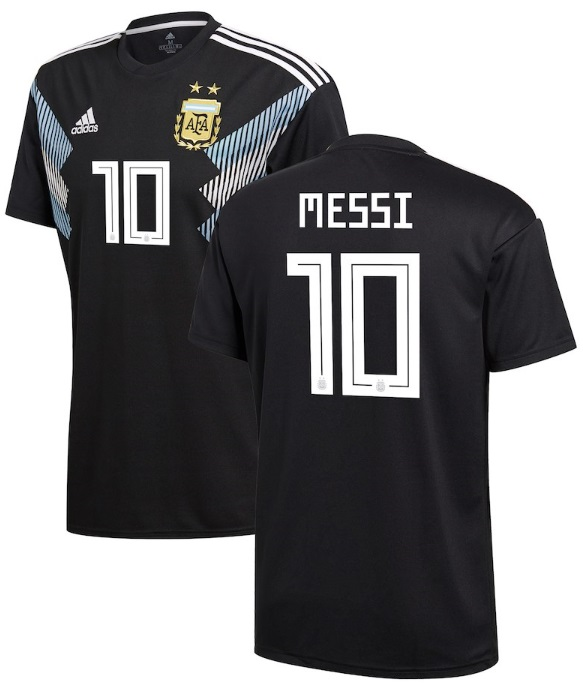 アディダス サッカー レプリカ ジャージー Lionel Messi Argentina National Team adidas 2018 Away Replica Player Jersey メンズ Black