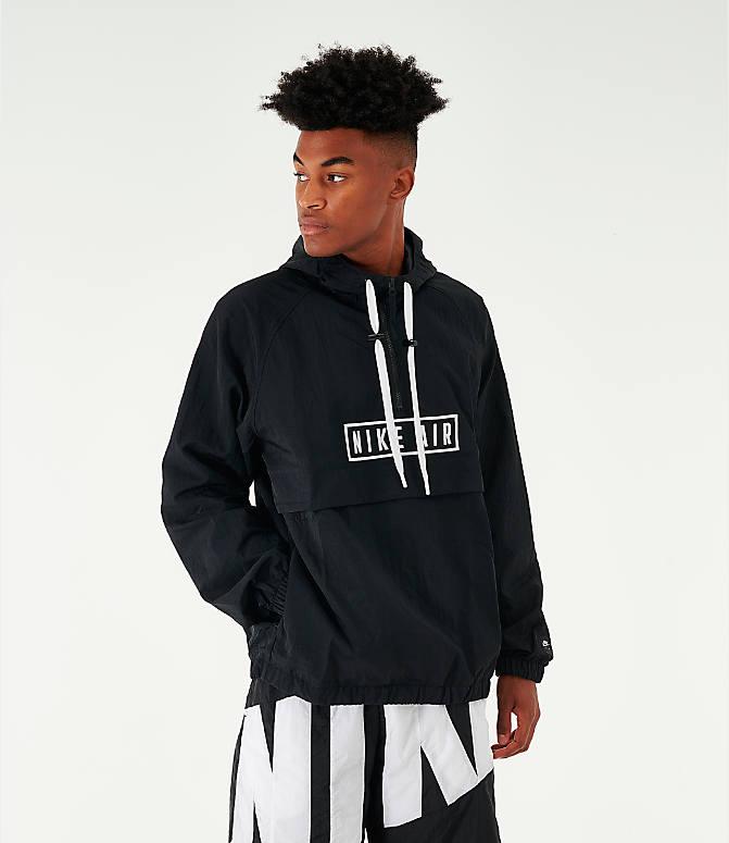 ナイキ メンズ Nike Air Woven Half-Zip Anorak Jacket ジャケット Black ウィンドブレーカー