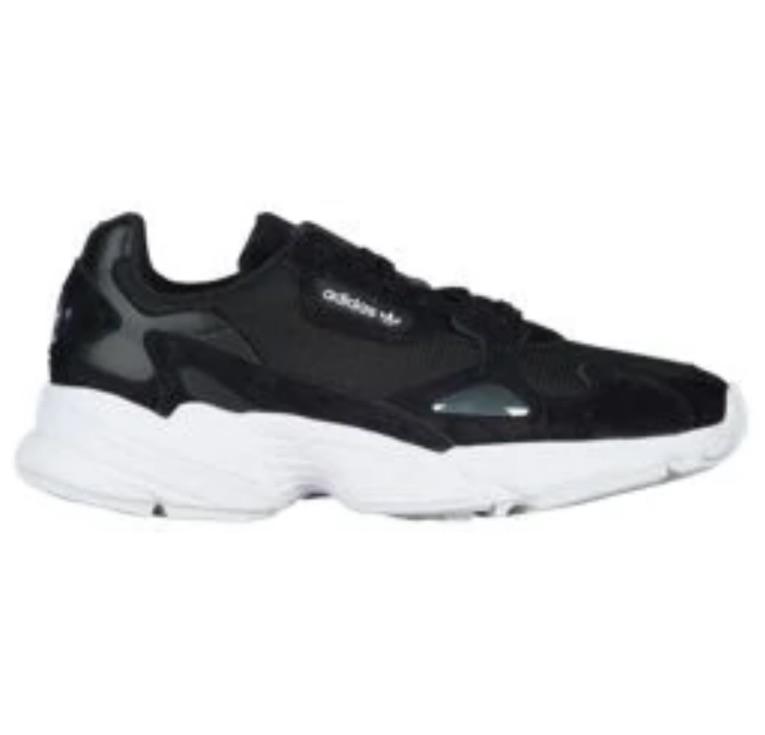 アディダス オリジナルス ウーマン/レディース スニーカー adidas Originals Falcon ファルコン Black/Black/White