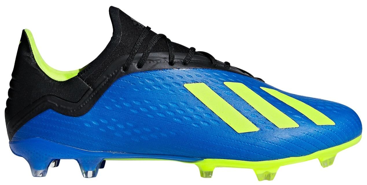 アディダス メンズ サッカー シューズ adidas X 18.2 FG スパイク Football Blue/Solar Yellow