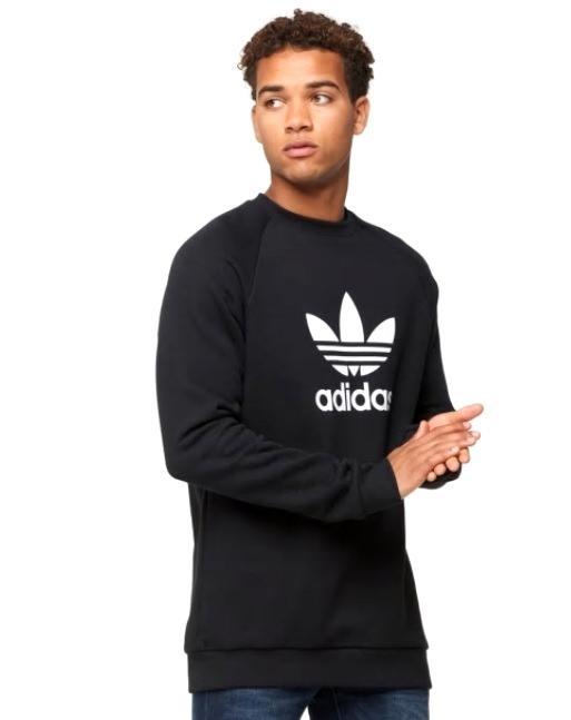 アディダス オリジナルス メンズ adidas Originals Trefoil Crew ロングTシャツ 半袖 Black