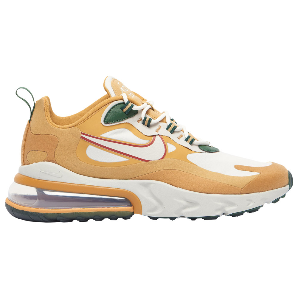 ナイキ メンズ エア マックス270 Nike Air Max 270 React スニーカー Club Gold/Light Bone/Flat Gold/Wheat