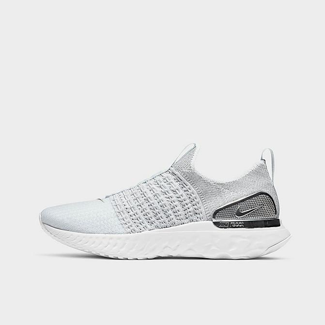 Nike シューズ Silver ランニングシューズ Run Pure ナイキ React Premium レディース Flyknit 2 Phantom Platinum/White/Metallic