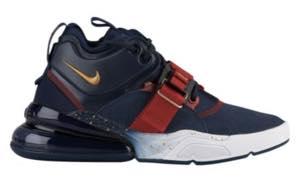 ナイキ ボーイズ/キッズ/レディース スニーカー Nike Air Force 270 エアフォース Obsidian/Met Gold/Gym Red
