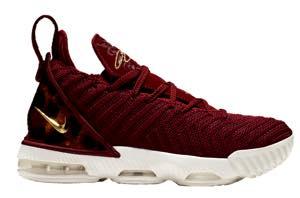 """ナイキ キッズ/レディース バッシュ Nike LeBron 16 XVI GS """"King"""" レブロン16 ミニバス Team Red/Met Gold/Multi/Sail"""