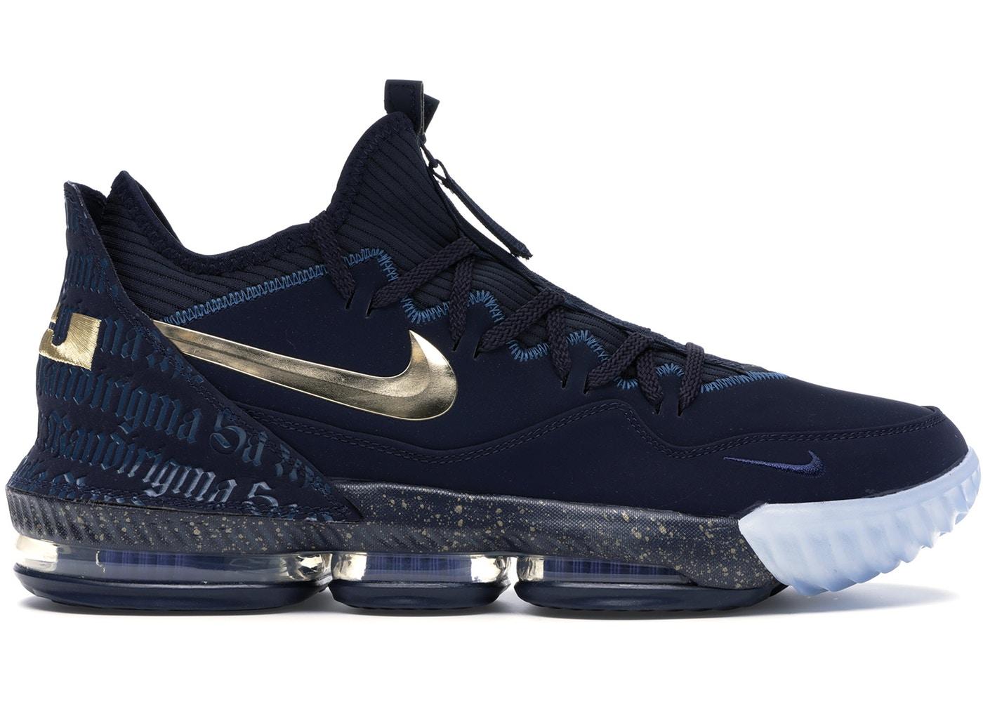 買い付けNOW 3 11より注文順に発送開始予定 登場大人気アイテム 送料無料 ナイキ メンズ レブロン16ロー Nike Lebron バッシュ 16 GOLD-BLUE FORCE OBSIDIAN METALLIC 贈与 Low