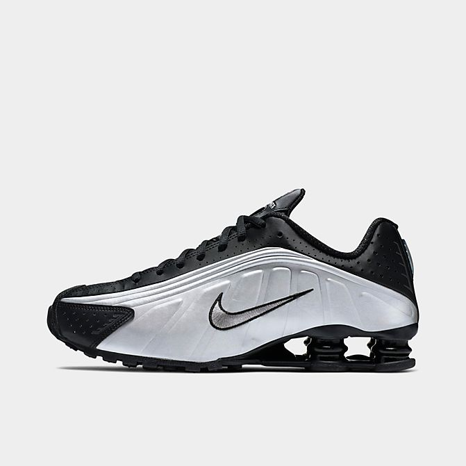 ナイキ メンズ Nike Shox R4 Casual Shoes スニーカー Black/Black/Metallic Silver/Bright Crimson