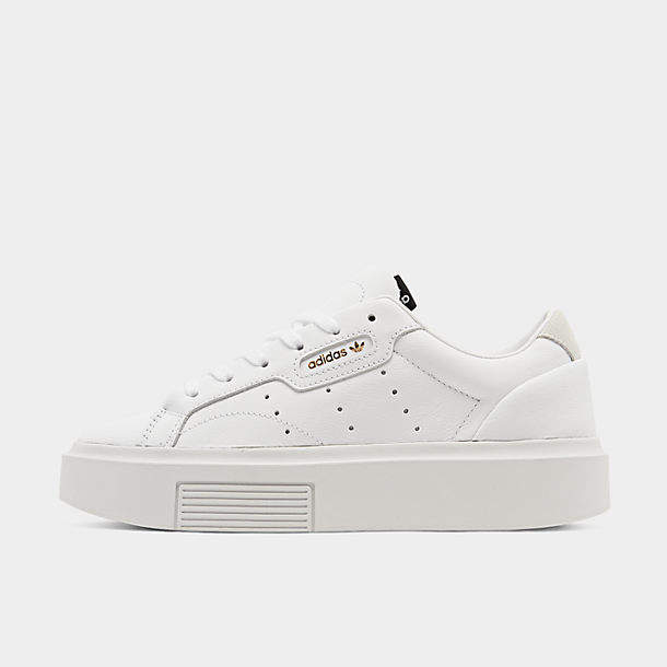 アディダス オリジナルス レディース adidas Originals Sleek Super スニーカー Off White/Raw White/Active Purple