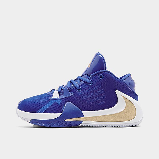 ナイキ キッズ/レディース ズーム フリーク Nike Zoom Freak 1 GS バッシュ ミニバス Hyper Royal/Metallic Gold/Blue Hero