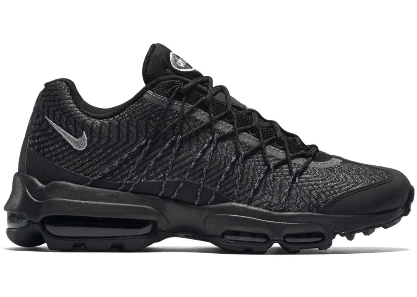 ナイキ メンズ エアマックス95Nike Air Max 95 Jacquard Black Silver DARK GREY-WHITE