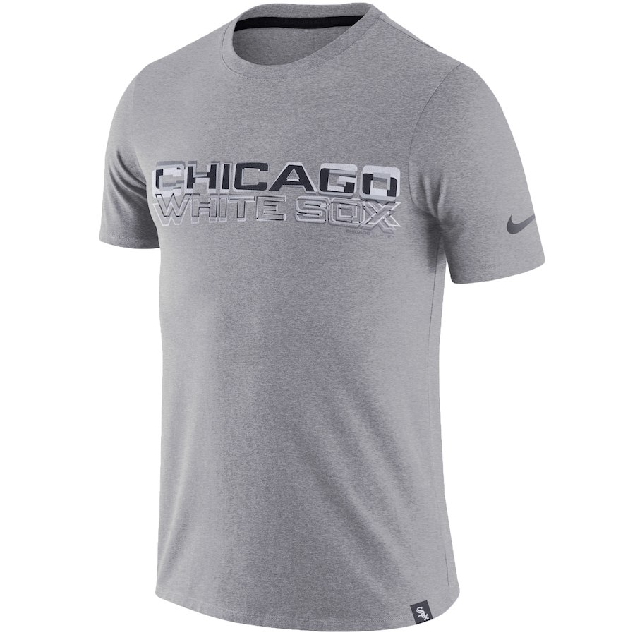 ナイキ メンズ MLB Chicago White Sox Nike Marled Wordmark T-Shirt Tシャツ 半袖 Heathered Gray