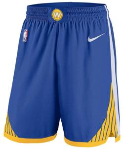 ナイキ メンズ バスパン Golden State Warriors Nike Swingman Shorts NBA ショーツ Blue