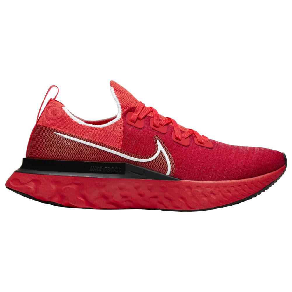 ナイキ メンズ スニーカー Nike React Infinity Run Flyknit ランニングシューズ Bright Crimson/White/Black/Infrared