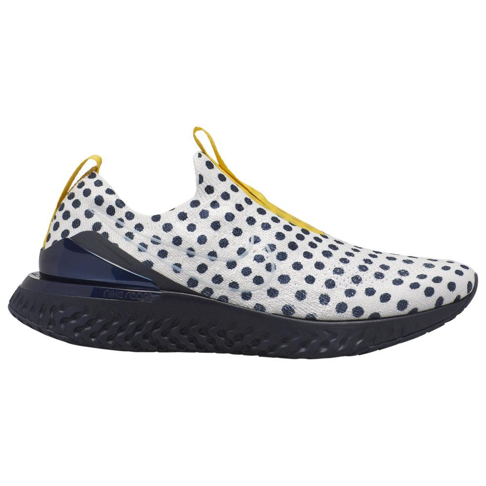 ナイキ メンズ スニーカー Nike Epic Phantom React Flyknit ランニングシューズ Platinum Tint/White/Obsidian/Chrome Yellow/Cody Hudson Pack