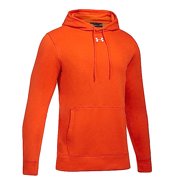 アンダーアーマー メンズ Under Armour UA Rival Fleece Team Hoodie パーカー フーディー Dark Orange / White