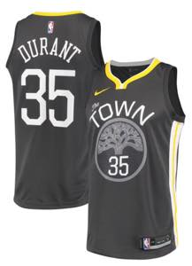 ナイキ メンズ ジャージー Kevin Durant Golden State Warriors Nike Swingman Jersey NBA ユニフォーム Black