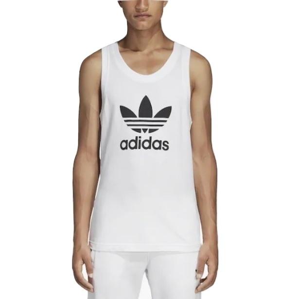 アディダス オリジナルス メンズ adidas Originals Trefoil Tank タンクトップ White/Black