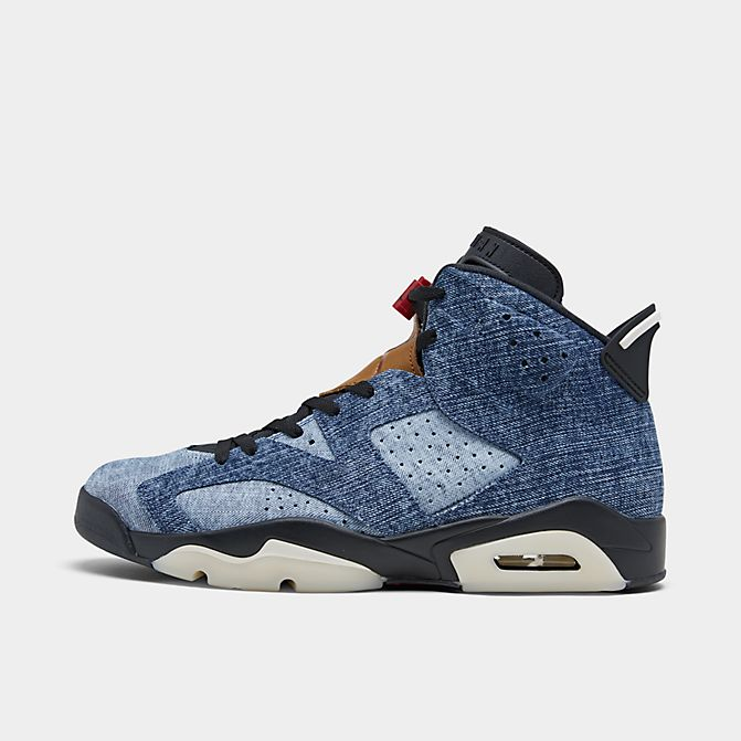 ジョーダン メンズ レトロ6 Air Jordan Retro 6 スニーカー Washed Denim/Black/Sail/Varsity Red